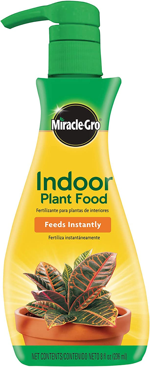 Miracle-Gro VB300526 Plant Food (Liquid), 8 oz, Feeds All Indoor Houseplants-Including Edibles-Instantly, 2 Pack