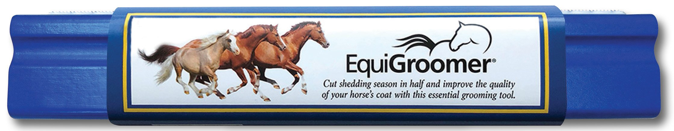 EquiGroomer - Large 9'' Grooming / Shedding / Tool for Horses - Blue
