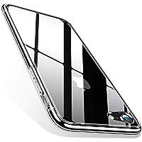 TORRAS iPhone8 ケース iPhone7ケース 4.7インチ 対応 9H 強化ガラス 日本旭硝子製 高透明 三層構造 黄変防止 四隅滑り止め ストラップホール付き ネイキッド (クリア)[ Fancy Series]