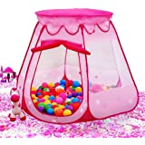 Children's six-sided tent Princess Play Ball Pit Outdoor Indoor Game Play Toys House, Ocean Ball Not Included