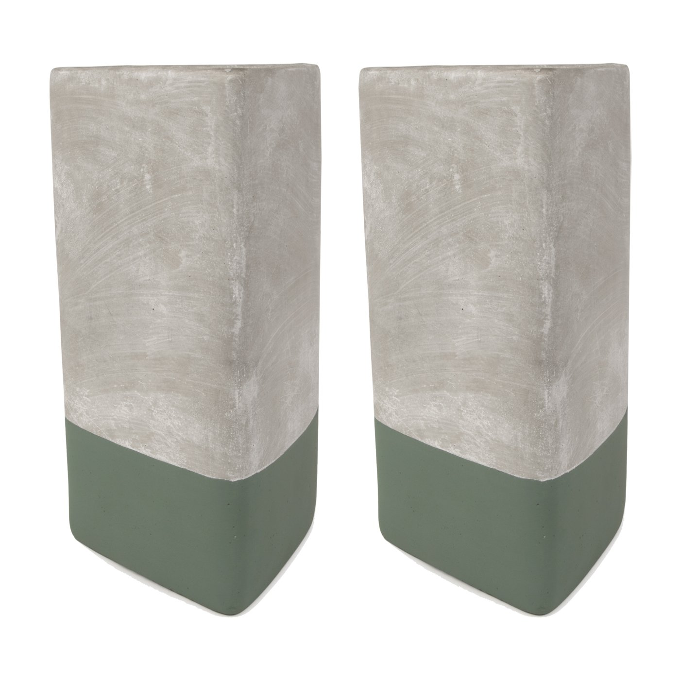 Paddywax Urban 28 Oz. Concrete Triangle Green Eucalyptus + Santal Candle - Pack Of 2