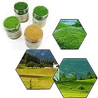 CFA6 4 x 35g Mixed 5mm Static Grass Terrain Powder Green Grass Fairy Garden Miniatures Landscape Artificial Sand Table…