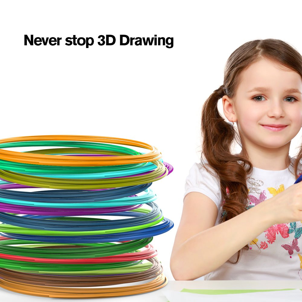 Tecboss 3D Pen, 3D Printing Drawing Printer Pen for Arts Crafts DIY for Kids and Adults, Compatible with PLA Filament,Safe and Easy to Use