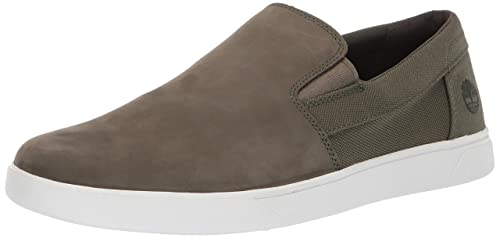 78c0339f28ff3 Timberland Men's Groveton Slip On Sneaker Dark Green Nubuck 7 Medium US