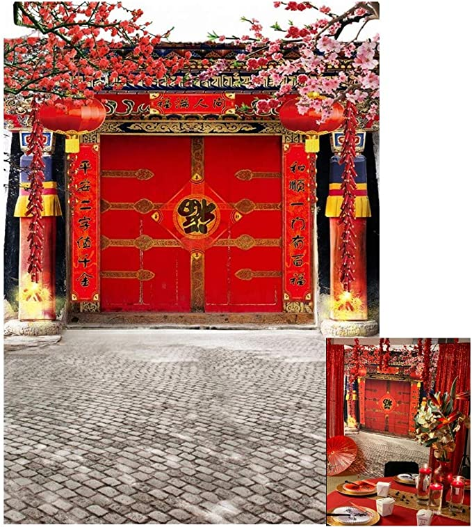Chinese Style 019 Photography Backdrops for Festivals Activities Scenarios Theme Decoration