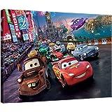 Disney Licence D07 O1 Pixar Cars Tableau Multicolore 3 x 100 x 75 cm