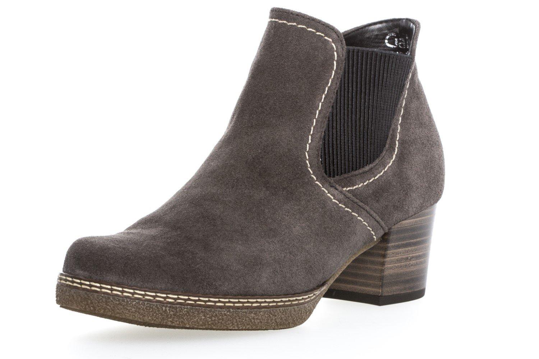 Gabor Damen Comfort Basic Stiefel  40.5 EU|Dark Grey Suede