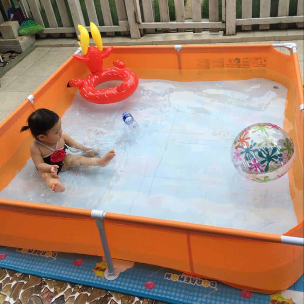 XIAOMIN Swim Center Family Inflatable Pool,Orange-160  160  35cm