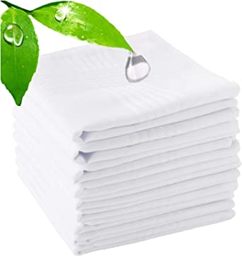 "6 Pack Men/'s White Handkerchiefs 100/% cotton-15/"" x 15/""  New in Package"