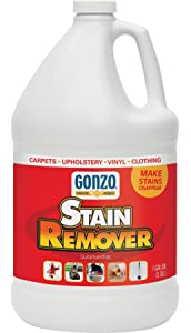 Gonzo Carpet Stain Remover - 1 Gallon - Natural Magic Super Strength Commercial Enzyme Cleaner for Pet Stains Removes Pet Urine Non-Toxic Carpet Stain Remover & Laundry Pretreat for Stains