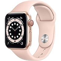 Apple Nuevo Watch Series 6 (GPS + Cellular) • Caja de Aluminio Color Oro de 40 mm • Correa Deportiva Color Arena Rosa…