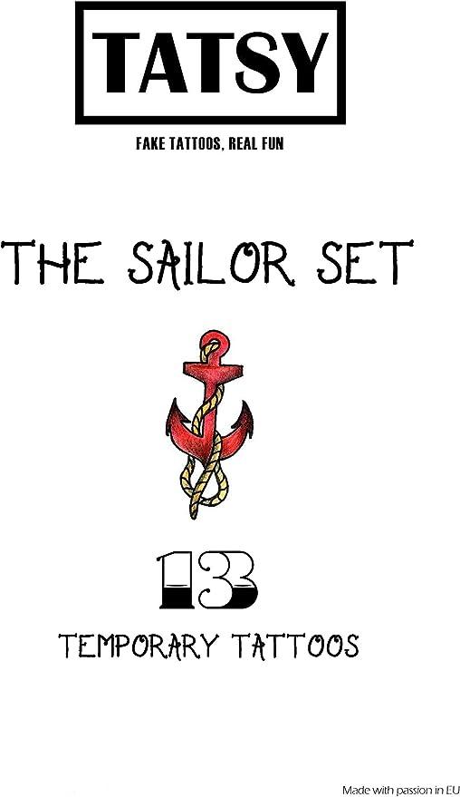Sailor Tatuaggi Tema Per Festa in Costume Accessorio