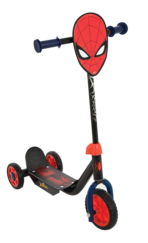 Amazon.com: Marvel Spiderman Deluxe Tri-Scooter MV Sports ...