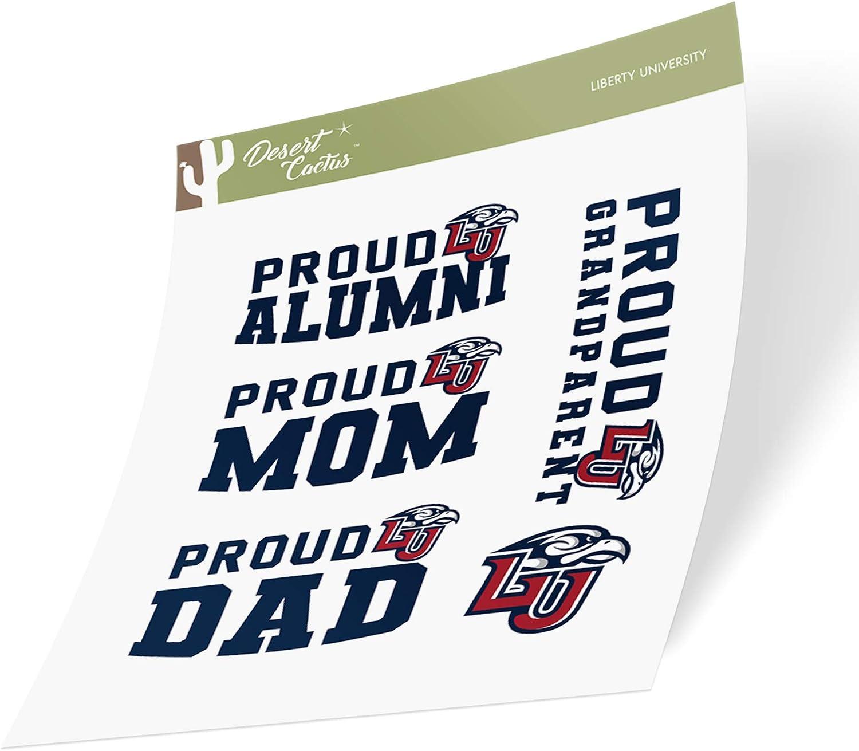 Liberty University Flames NCAA Sticker Vinyl Decal Laptop Water Bottle Car Scrapbook (Family Full Sheet)