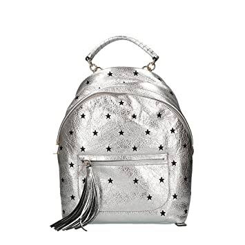 0a41017d83149 Coccinelle Leonie Stars Embroidery backpack woman silver  Amazon.co.uk   Luggage