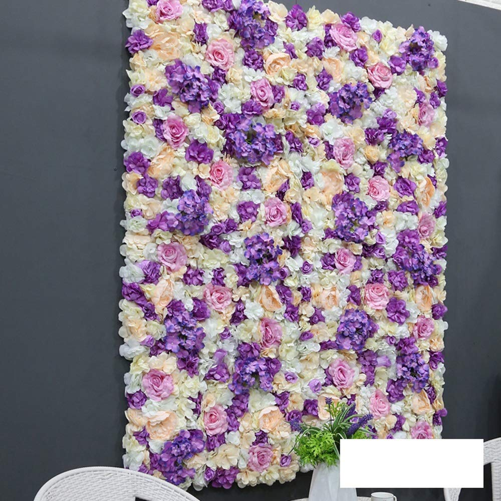 MS Furniture Wedding Ceremony Layout Simulation Flower Wall Background Wall Interior Wall Decoration Fake Flower Flower Wedding Holiday Flower Props Flower Wall Decoration Artificial Flower Wall Backg by MS Furniture