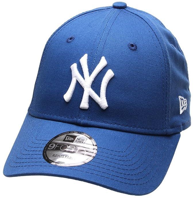 Cappellino New Era - 9Forty Mlb New York Yankees League Essntl blu bianco  formato  Regolabile  Amazon.it  Abbigliamento c5ac41f0f3cd