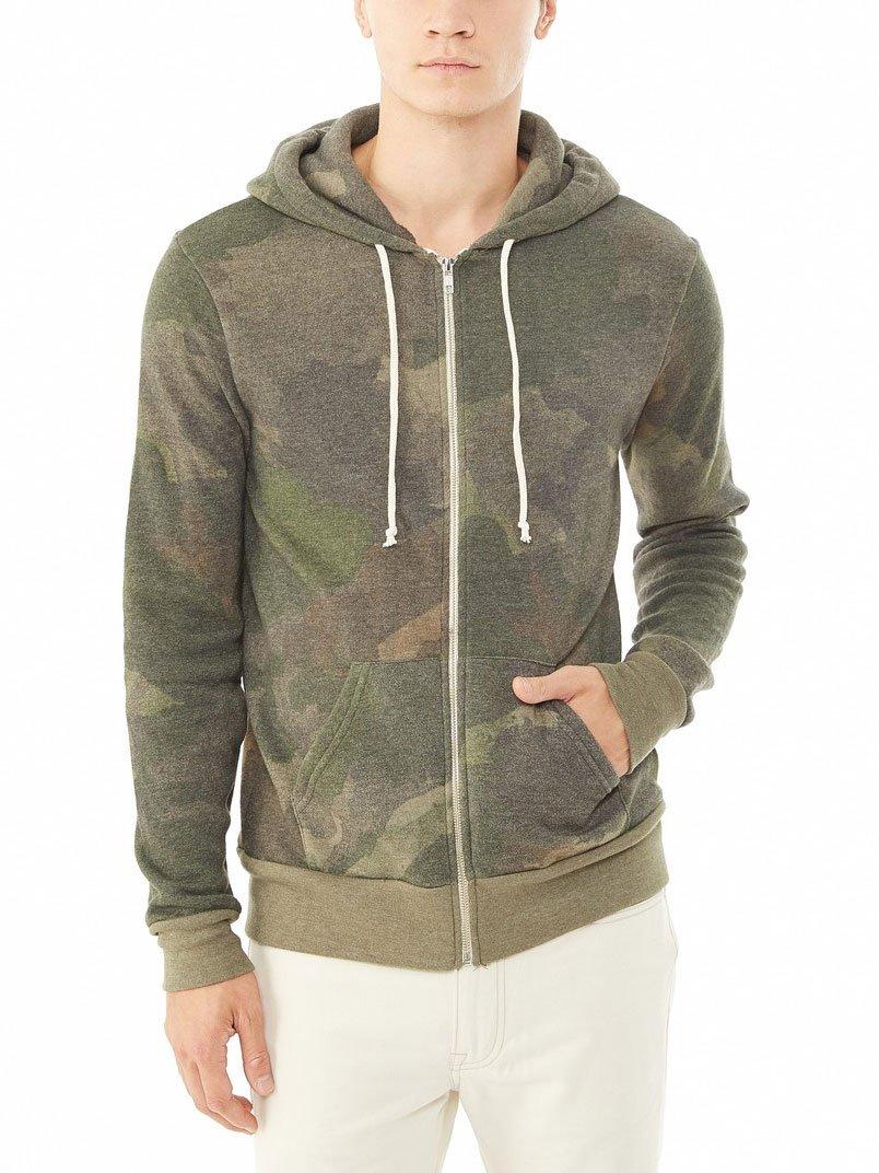 Alternative Rocky Printed Eco-Fleece Zip Hoodie, Camo Dreamstate, Small