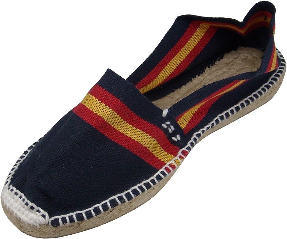 Alpargatus - Alpargata Plana Rayas con Bandera España, Mujer, Azul Marino, 35 EU: Amazon.es: Zapatos y complementos