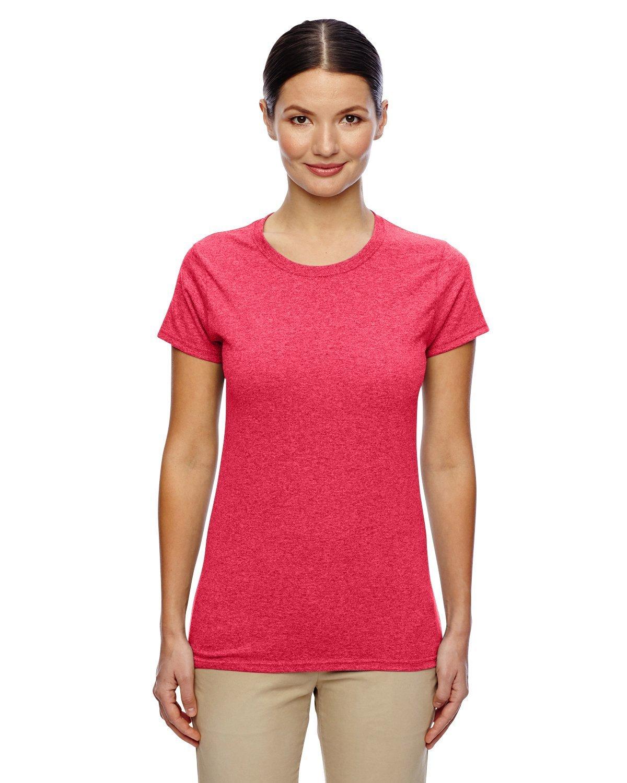 (ギルダン) Gildan メンズ ヘビーコットン 半袖Tシャツ トップス カットソー 定番 男性用 B01AMLCR7A L|レッド(Heather Red) レッド(Heather Red) L