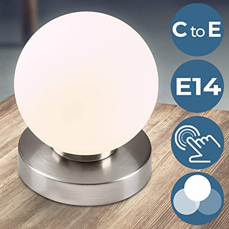 Lámparas de Mesa Táctiles 3 Intensidades de Luz | Juego de 1 o de 2 piezas, E14 | Lámpara de Noche, Iluminacion de Escritorio, Mesa de Luzde de ...
