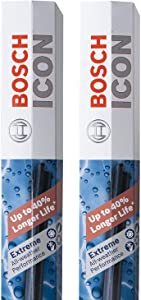 Bosch ICON Wiper Blades 26A16A (Set of 2) Fits Honda: 16-07 CR-V, Nissan: 14-09 Murano, Subaru: 16-15 Impreza, Toyota: 19-09 Corolla +More, Up to 40% Longer Life, Frustration Free Packaging