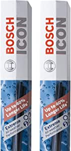 Bosch Automotive ICON Wiper Blades 26A18A (Set of 2) Fits Acura: 19 RDX, Hyundai: 19-11 Sonata, 18-13 Avalon, Toyota: 17-12 Camry +More, Up to 40% Longer Life, Frustration Free Packaging