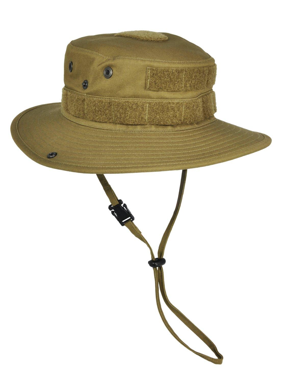 HAZARD 4 SunTac Cotton Boonie Hat with Molle - Coyote (Regular) by HAZARD 4