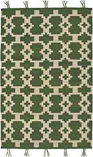 product image for Capel Hyland Green 5' x 8' Rectangle Flat Woven Rug