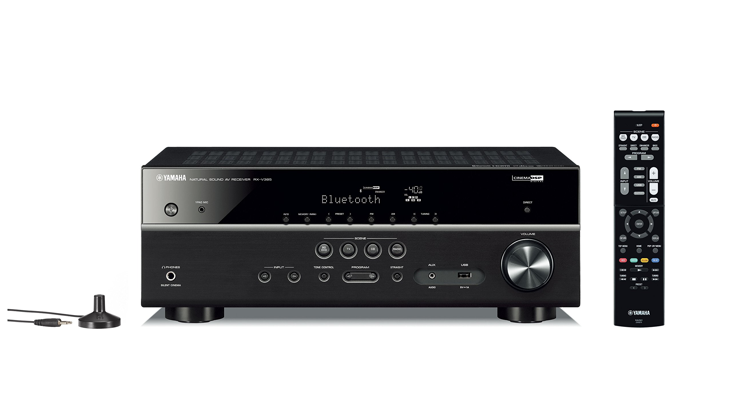 Yamaha RX-V385 5.1-Channel 4K Ultra HD AV Receiver with Bluetooth by Yamaha Audio