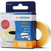 HERMA 1051 navulrol voor lijmrollers, permanent (13 x 12 mm) zelfklevende navulcassette met 1.000 dubbelzijdige…