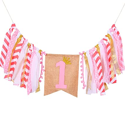 amazon com hestya one birthday decorations for girl baby girl s