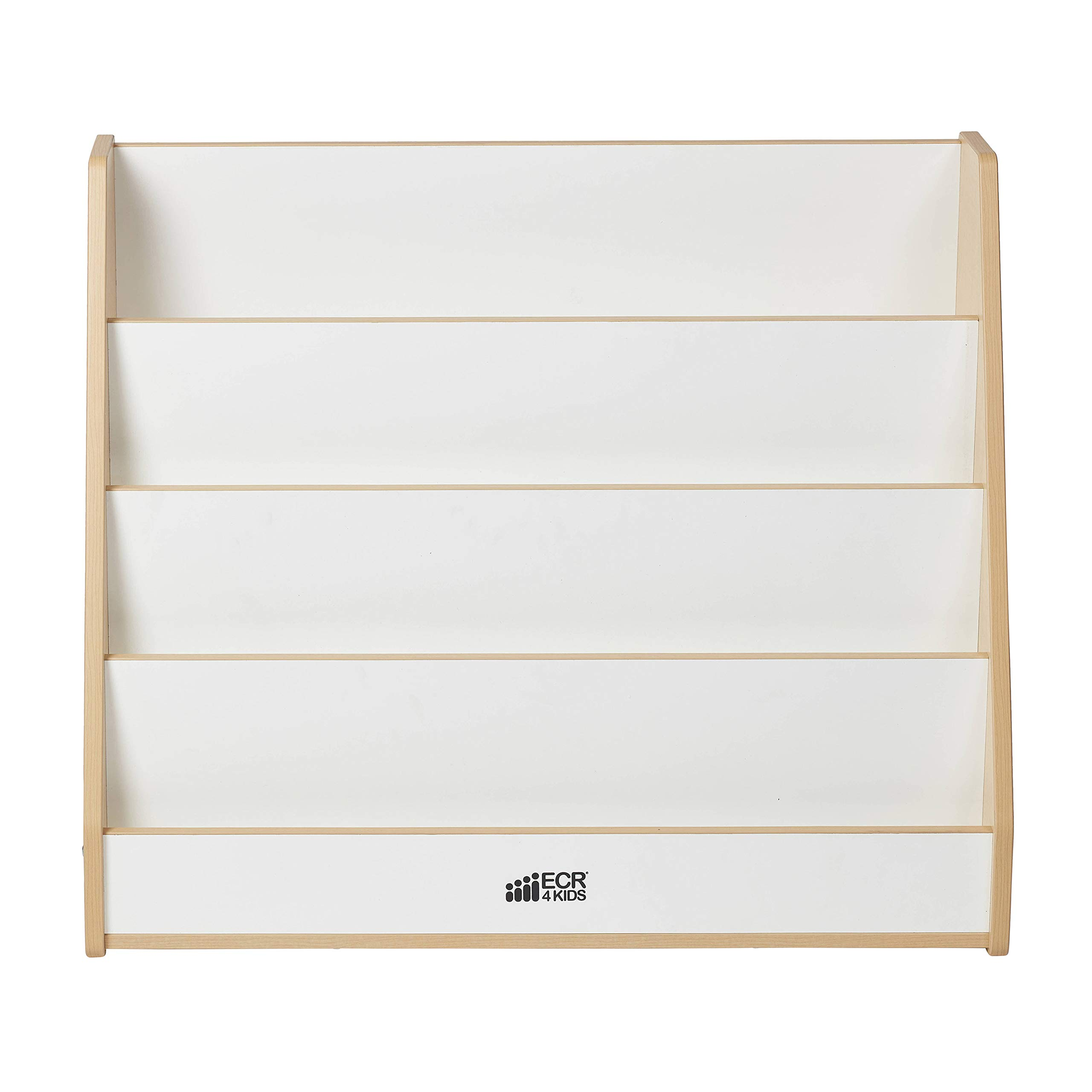ECR4Kids Colorful Essentials 4-Tier Book Display Stand, White and Maple by ECR4Kids (Image #8)