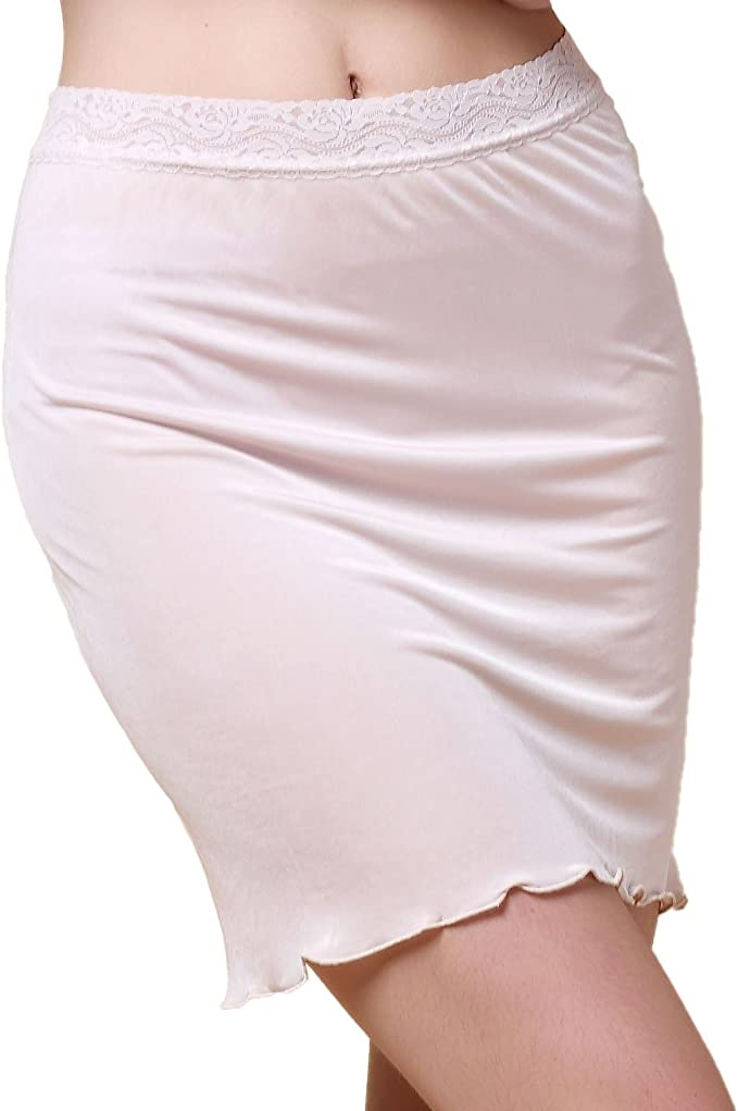 "Beautiful Lace Size 5X NWT Beige 25/"" Half Slip"