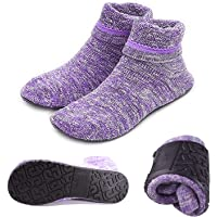 Womens Slipper Socks Cozy Indoor Socks Winter Warm Thicken Floor Socks With Grippers,Size:4-9.5