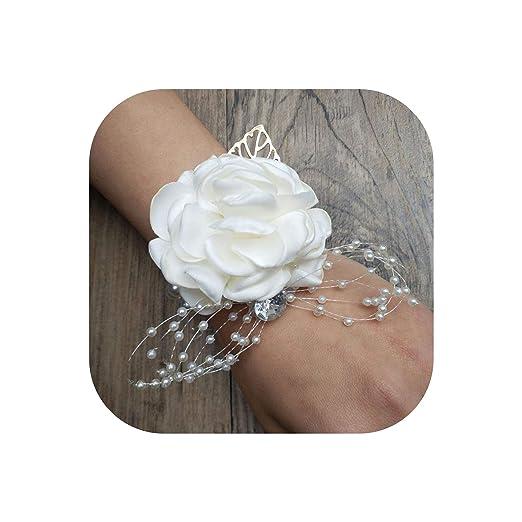 First Ring-Wrist Flower Broche de Seda con diseño de Rosas ...
