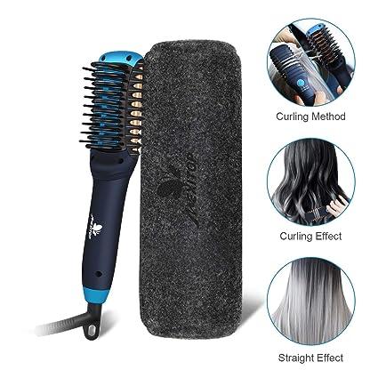 Rizador y plancha para el cabello - Mexitop Mini 2 en 1 herramienta para salón de