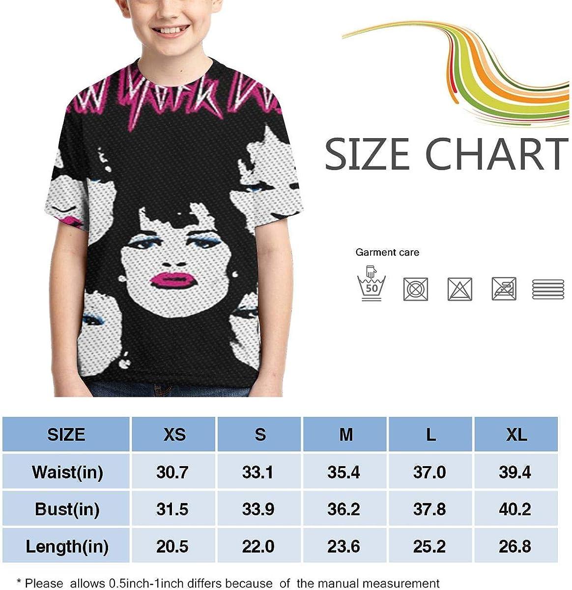 New York Dolls Cool Boys Girls 3D Print Short Sleeve Outdoor T-Shirt Tees Black