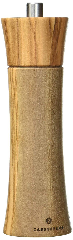 Zassenhaus Frankfurt Olive Wood Ceramic Pepper Mill M022223