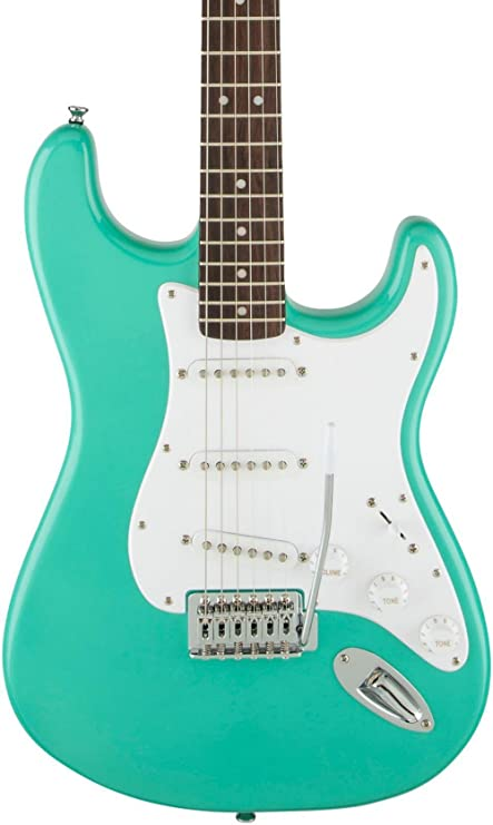 Squier Bullet Stratocaster SSS para Guitarra Eléctrica Trémolo con mar de espuma verde