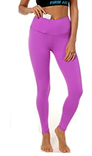 FIRM ABS Womens High Waist Yoga Pants Hidden Pocket Non See-through Fabric