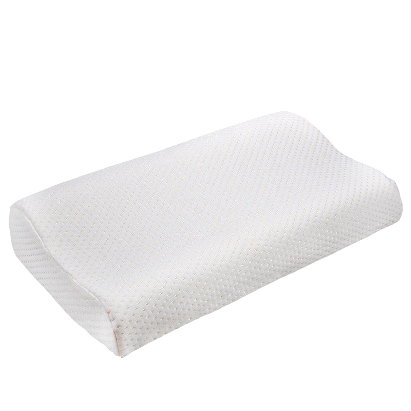 Denshine 30x50cm Sleep Slow Rebound Memory Foam Pillow Cervical Health Care 1pc (White)