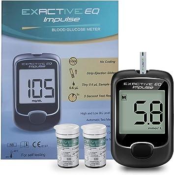 Medidor de glucosa en sangre tiras de prueba diabetes strips codefree tiras reactivas de glucosa en sangre 50 mg/dL para ES diabéticos: Amazon.es: Salud y cuidado personal