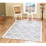 A2Z RUG Trellis Rugs Silver 60x110 CM -2'x3'6'' ft Trendy Collection AVAILABLE IN MANY COLOURS AND SIZES AREA RUGS