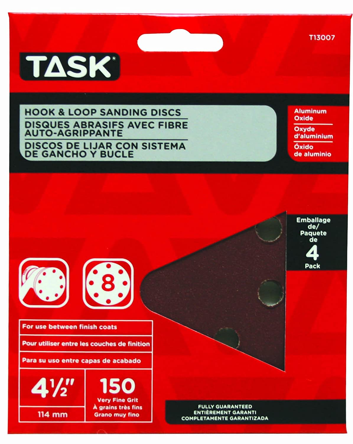 Task Tools T13007  Hook and Loop Sanding Discs LCM Team Task Tools