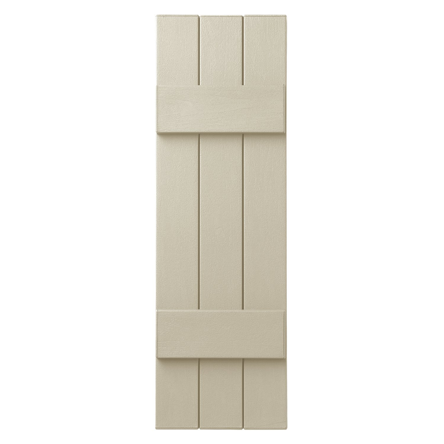 Ply Gem Shutters and Accents VIN3C1139 CRM 3 Closed Board and Batten, Sand Dollar