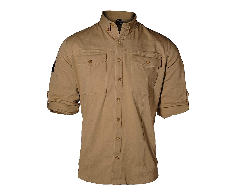 pipigo Mens Casual Shirts Button Up Loose Long Sleeve Stretchy Printing Shirt Top