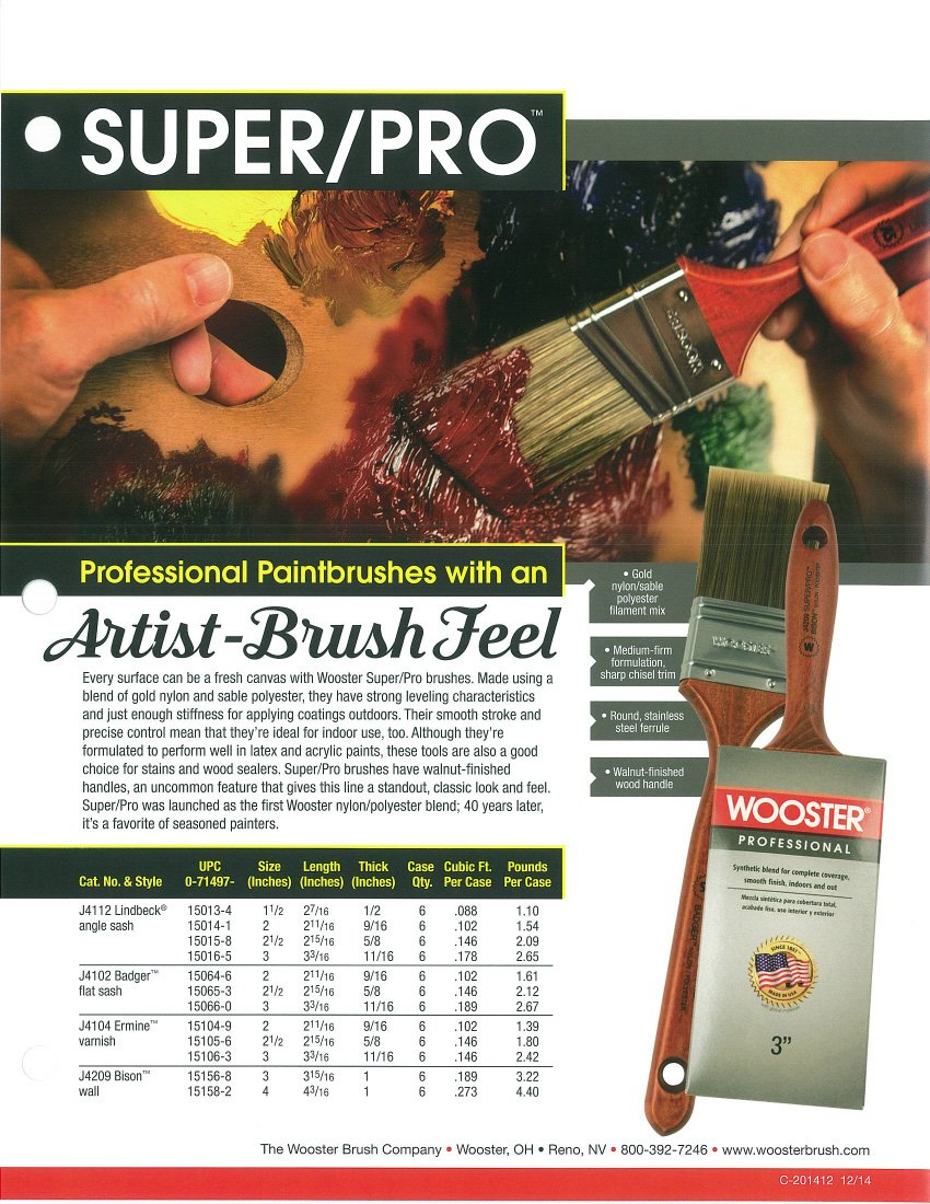 Wooster Brush J4104-2-1/2 Super/Pro Ermine Paintbrush, 2-1/2-Inch
