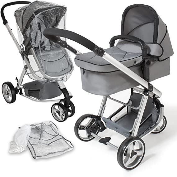 TecTake 3 in 1 Pushchair Stroller Combi Stroller Buggy Baby Jogger Travel Buggy Kids Stroller