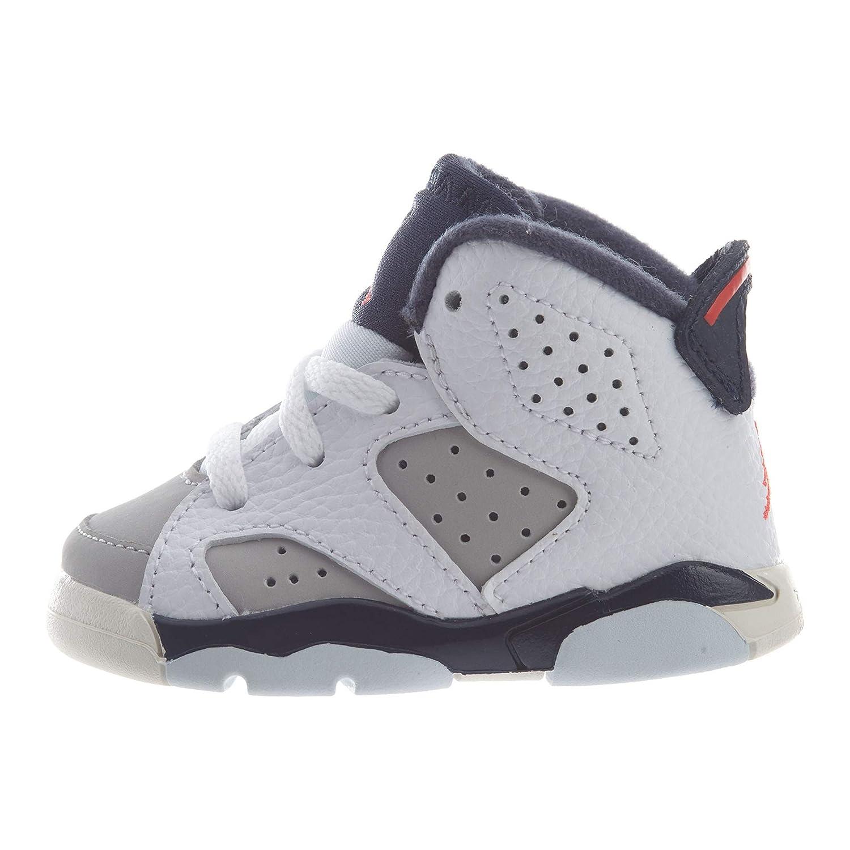 premium selection a2a42 d99ec Nike Toddler Jordan 6 Retro Tinker White/Infrared 23-Neutral Grey (10 M US  Toddler)